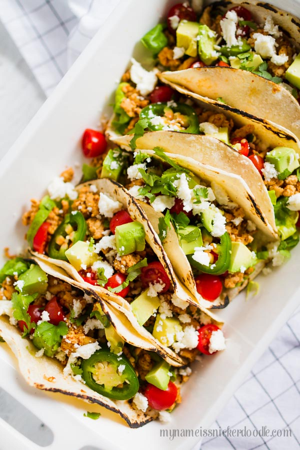 Enjoy Taco Tuesday without any guilt!  This recipe for Skinny Tacos is delish!  |  mynameissnickerdoodle.com