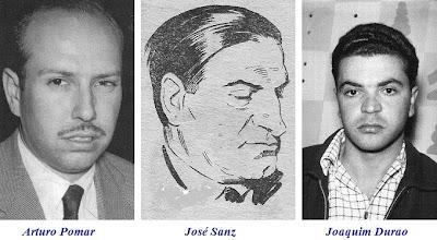 Arturo Pomar, José Sanz y Joaquim Durao