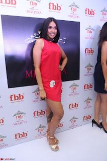 Spatika Surapaneni in Red Tight Dress at FBB Miss India 2017 finalists at Telangana auditions Feb 2017 (15).JPG