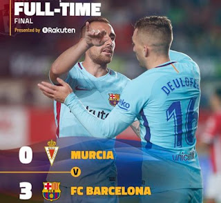 Barcelona Pesta Gol di Kandang Real Murcia - Highlights