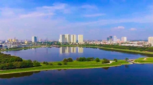 Dự án Gelexia Riverside tọa lạc gần hồ điều hòa Yên Sở