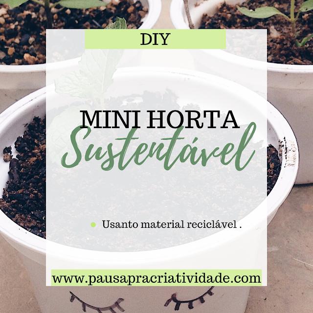 Diy | Como aproveitar pote de Iogurte - Mini horta