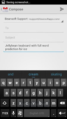 Android jelly bean keyboard