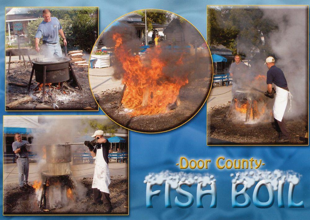 Indian summer am lake michigan 2005 fish boil in fish creek for Door county fish boil