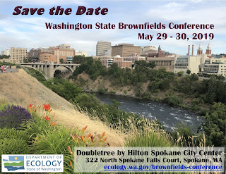 Save the Date postcard for the Washington State Brownfields Conference