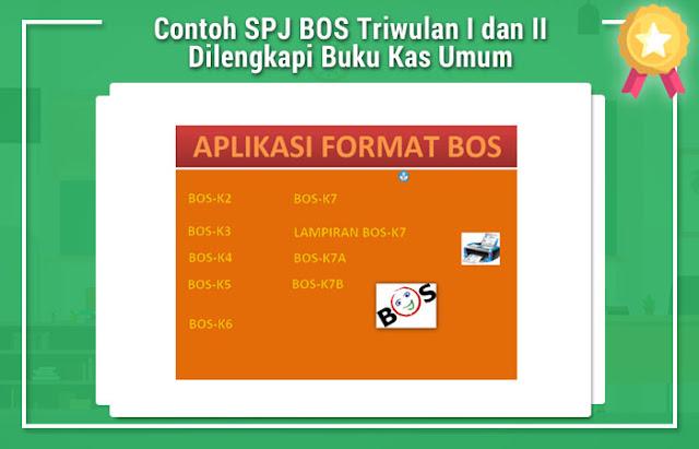 Contoh SPJ BOS Triwulan I dan II Dilengkapi Buku Kas Umum