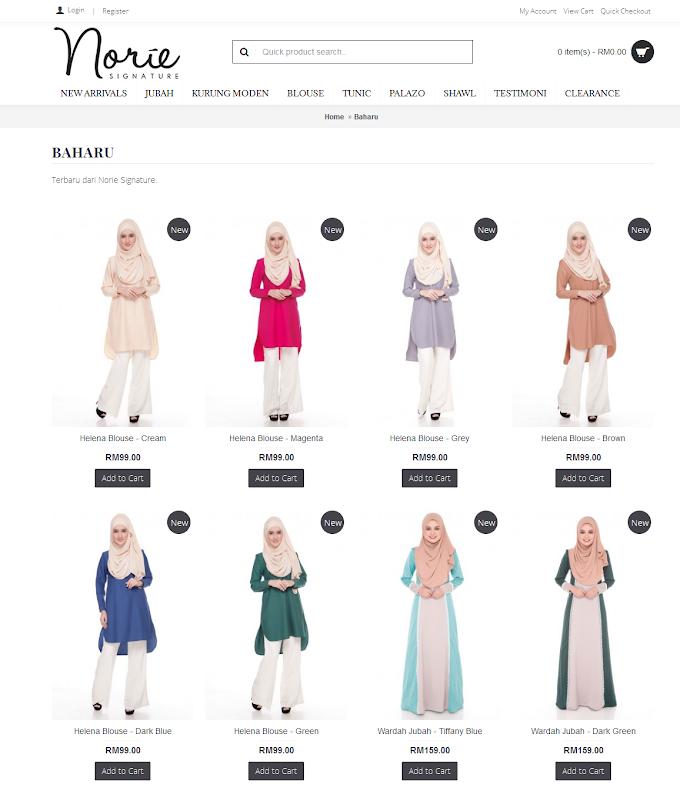 Shopping Online Baju Muslimah Murah Di Norie Signature