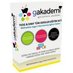 Görüntülü TEOG 8.Sınıf Tüm Dersler Eğitim Seti 52 DVD