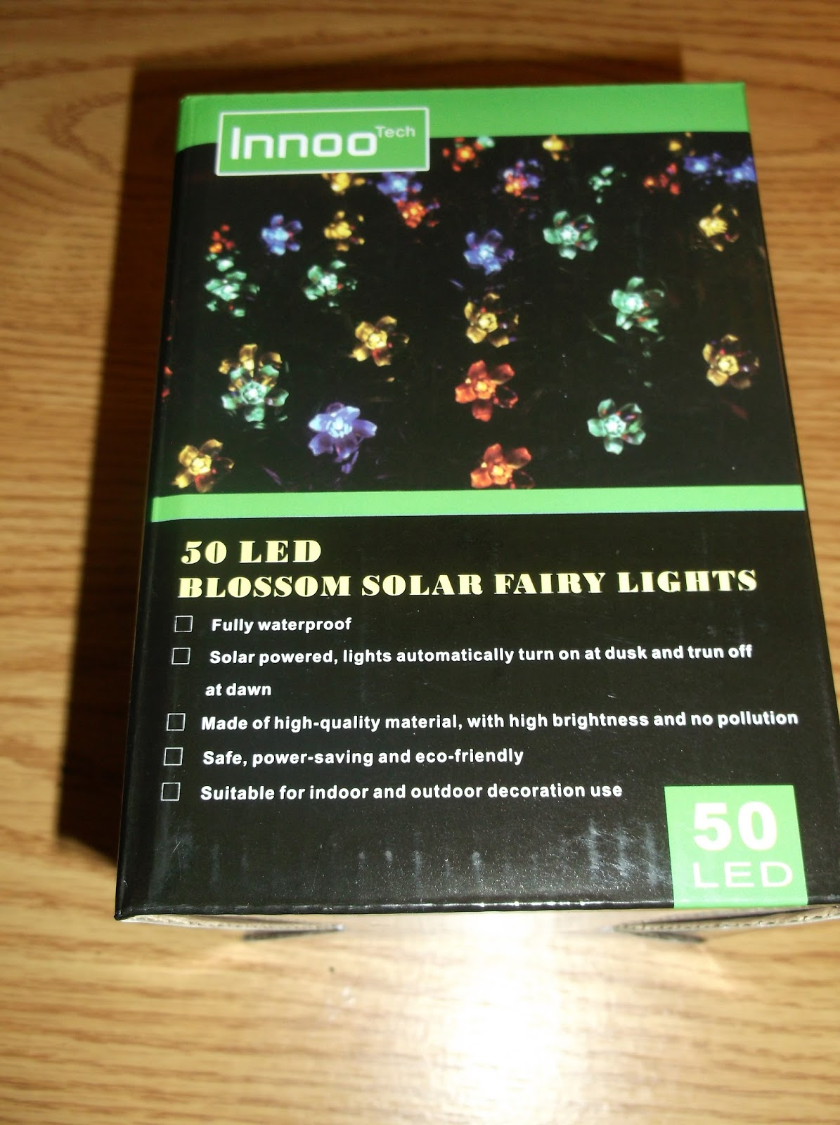 Missys Product Reviews : Purple Solar Outdoor String Light from InnoTech
