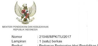 Surat Mendikbud  2017-1 Tentang Hari