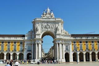 Portugalia, Lizbona, Baixa, Praca do Comercio, Arco Rua de Augusta