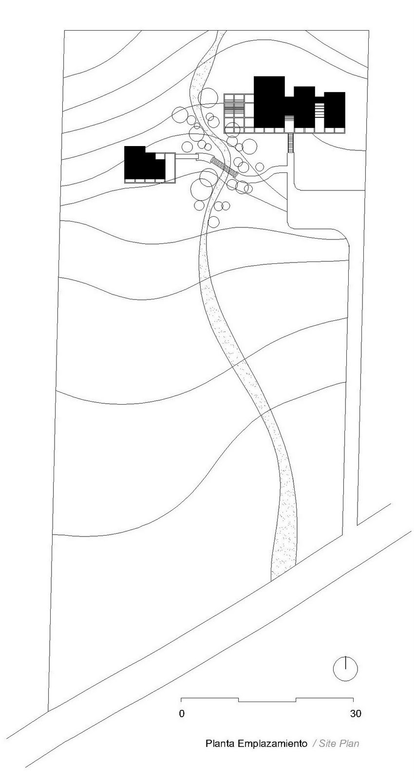 Site plan drawing © courtesy of loi arquitectos