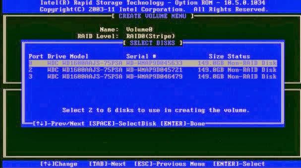 RAID Intel S1200V3RPS - Passo 5