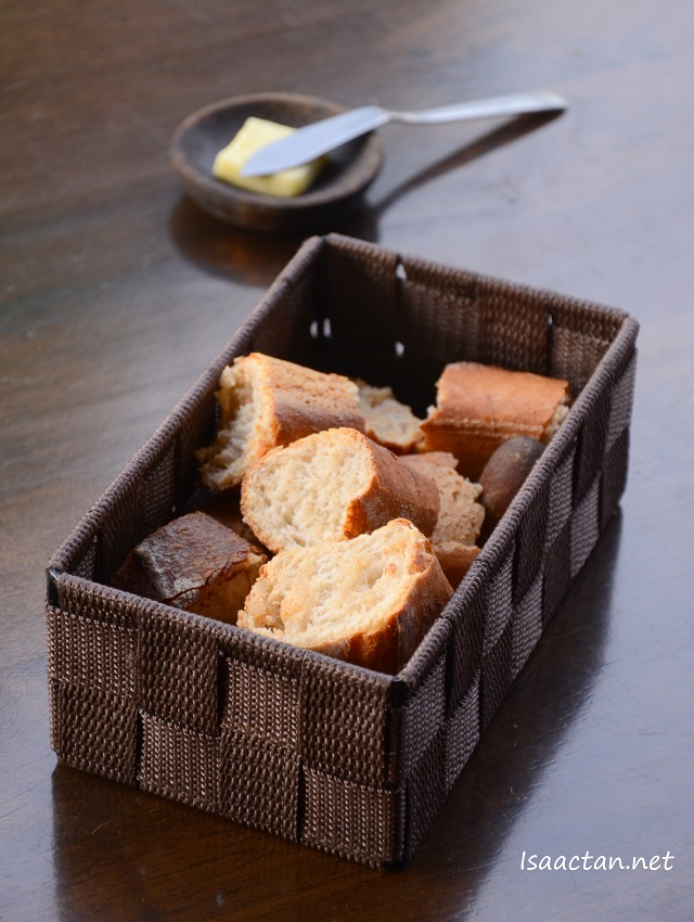 Every table gets a basket of bread with butter with every dine-in