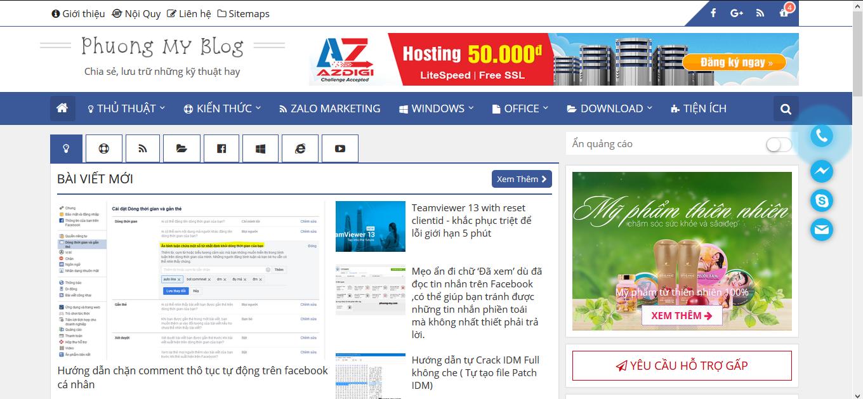 Tạo nút call qua điện thoại, Zalo, Email đầy sáng tạo , đẹp lung linh cho website nhà bạn