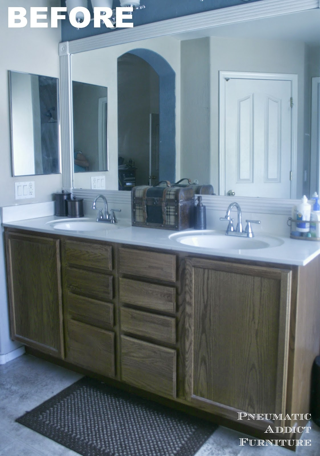Darken Cabinets Without Stripping The Existing Finish Pneumatic Addict