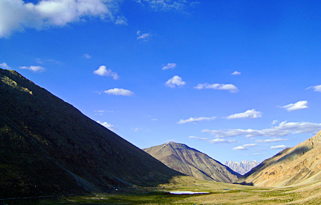 bare slopes of the mountains of Ladakh