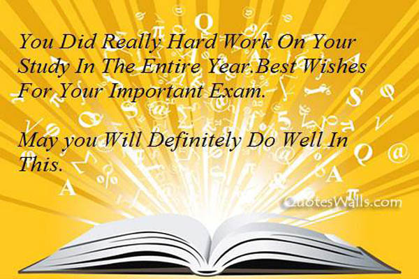 Good Luck On Your Exam Quotes: Examination Good Luck Quotes, Pictures For Students