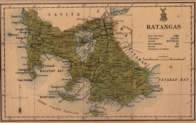 Map of Batangas c. 1918.