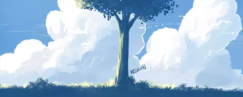 anime tree painting