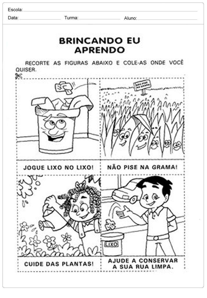 Blog Professor Zezinho Atividades Sobre Meio Ambiente Para