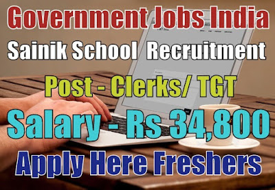 Sainik School Recruitment 2018