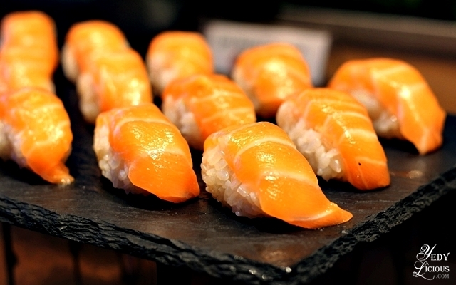 Salmon Sushi at Nobu Hotel Brunch Buffet City of Dreams Manila
