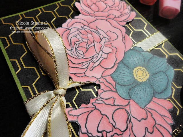 sympathy card using Stampin' Up!'s Breathtaking Bouquet set & Golden Honey Designer Series Paper