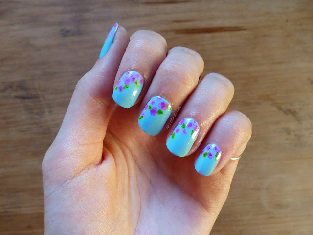 Watercolor Sharpie Nails