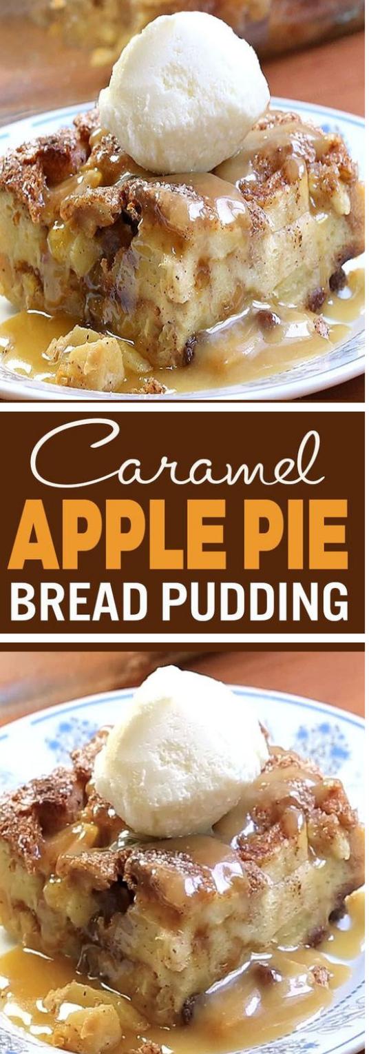 Apple Pie Bread Pudding #apple #cake