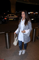 Neha Dhupia in Shirt Denim Spotted at Airport IMG 3532.JPG