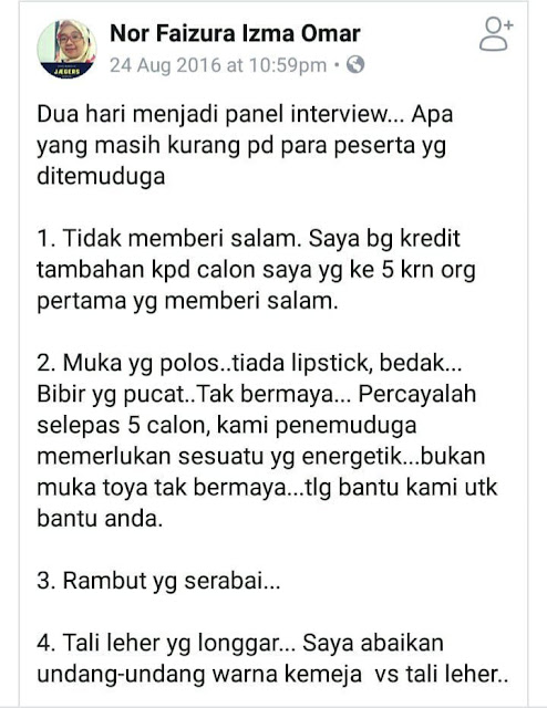 #TIPS ~ Apa yang perlu anda lakukan ketika hadir interview