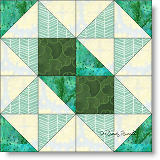 Chisholm Trail quilt block image © Wendy Russell