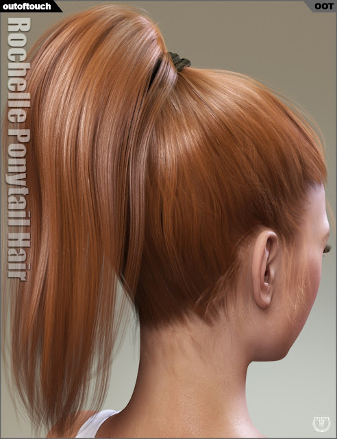 Rochelle Ponytail Hair for Genesis 3 Female