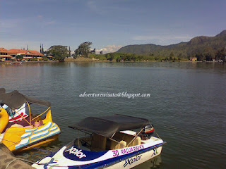 wahana air speedboat di telaga sarangan