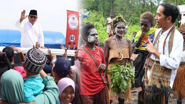 Survei CRC: Pemilih Jokowi Terbesar di Papua, Prabowo di Sumatera
