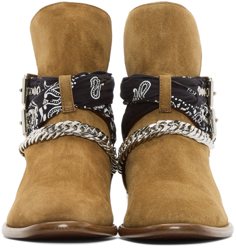 Rock The Spot Amiri Suede Bandana Buckle Boots Shoeography