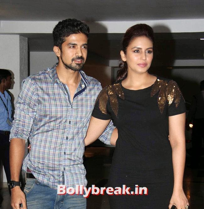 Saqib Saleem and Huma Qureshi, Karan Johar Birthday Party Pics 2014