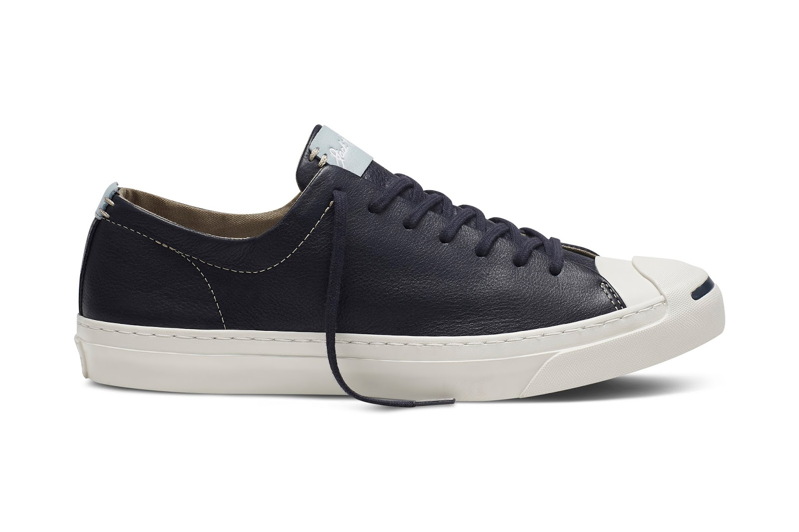 1cb927e4f340 ... leather upper with details including a post-applied Jack Purcell logo  on the tongueand punched eyelets for a smooth quality finish.