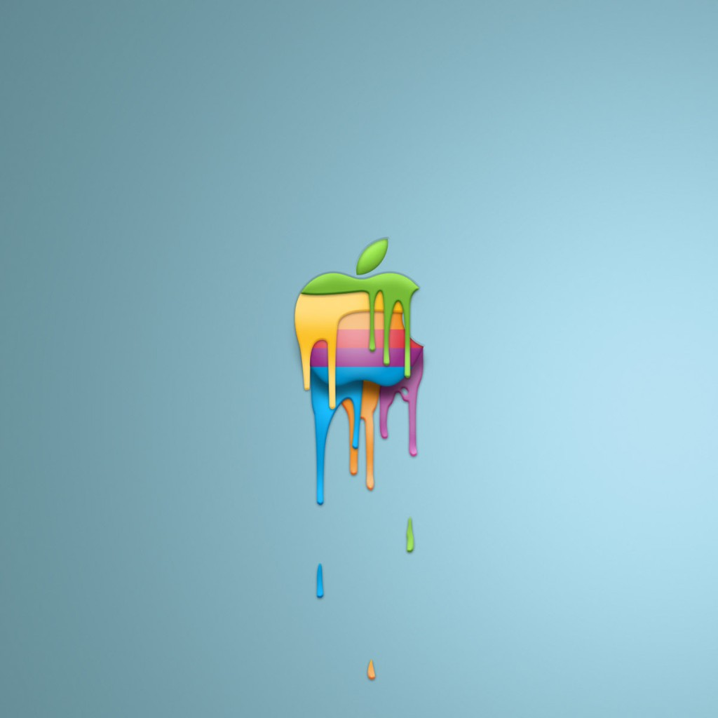 colored apple logo ipad wallpaper free ipad retina hd