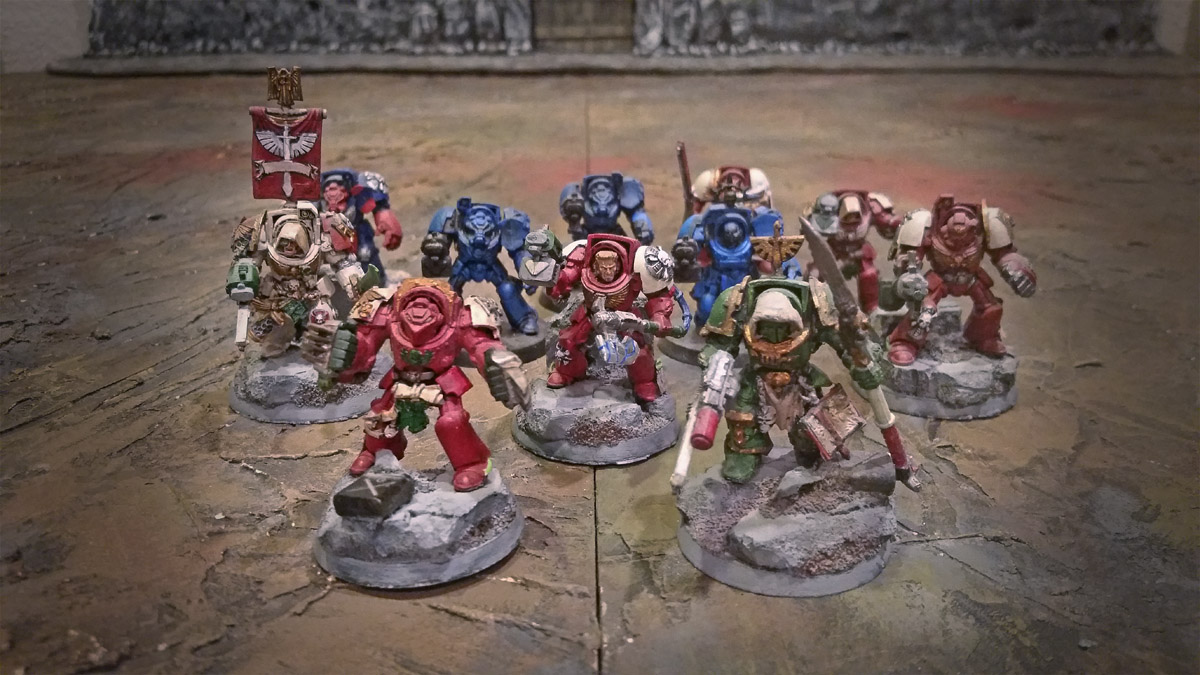 space marines assorted terminators