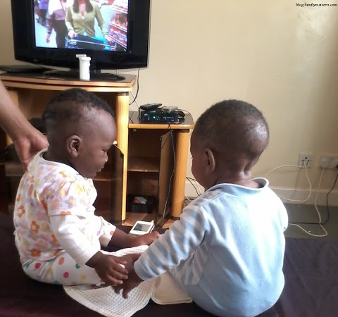 Kids exposed to the television screen