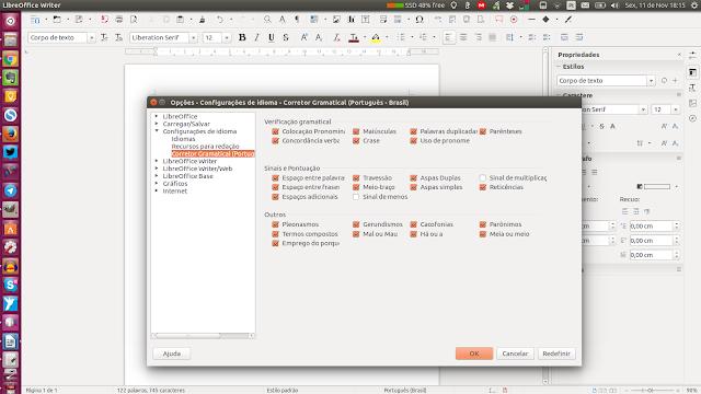 Corretor automático no LibreOffice