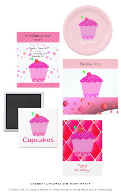Cherry Cupcake Birthday Collection