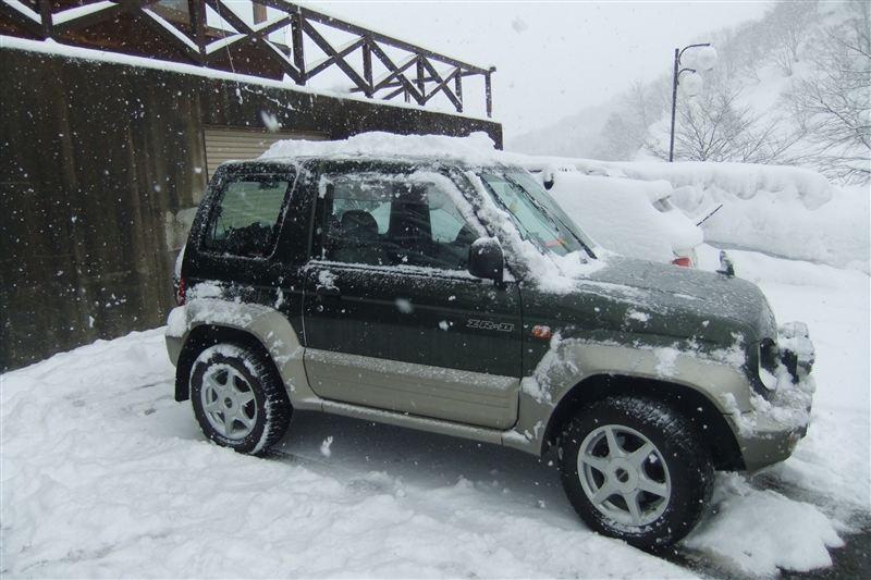 mitsubishi-pajerojr-winter パジェロジュニア冬季仕様
