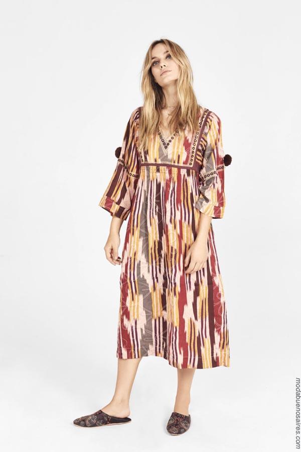 Moda primavera verano 2019 vestidos Rapsodia.