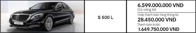 Giá xe Mercedes S450 L Luxury 2018 tại Mercedes Trường Chinh