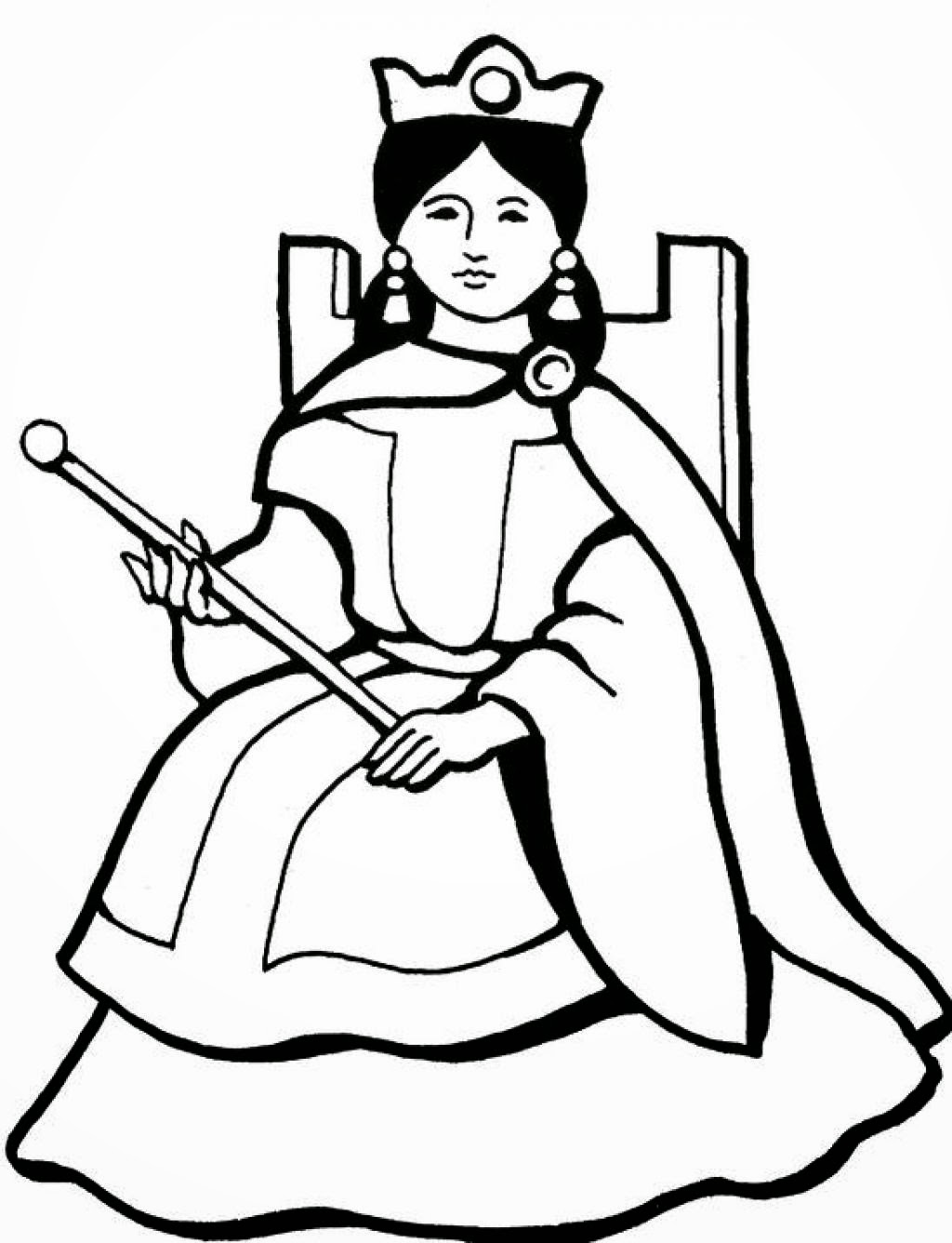 Queen Diamond Coloring Pages