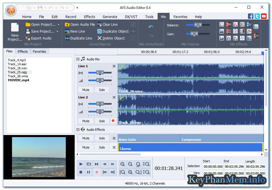 Download AVS Audio Editor 8.5 Full Key, Phần mềm chỉnh sửa,cắt,ghép,làm hiệu ứng,Mix nhạc...