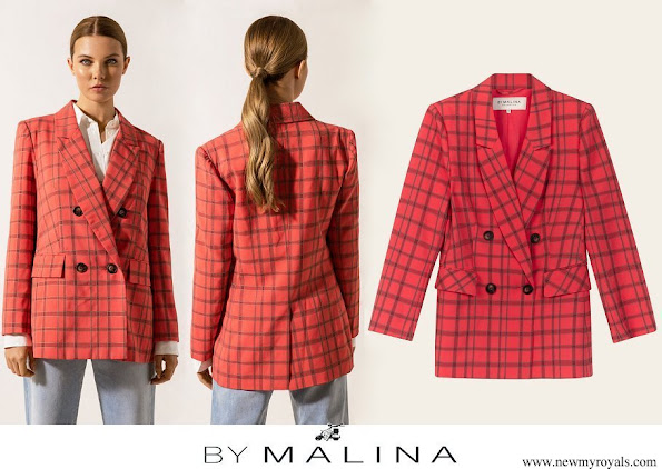 Crown Princess Victoria wore By Malina Flora blazer